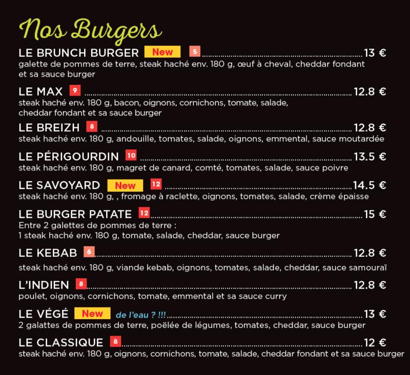 Burger maison restaurant cesar langueux